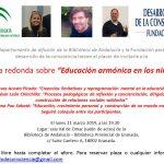 Mesa redonda en Granada, sobre consciencia y educación, 11 marzo 2019 en la Biblioteca de Andalucía